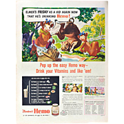 Bordens Hemo, Vitamins and Nutrition WWII Advertisement