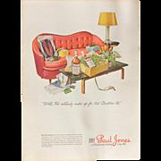Vintage 1944 Dry Paul Jones Whiskey WWII Advertisement