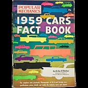 Vintage 1959 Popular Mechanics Car Fact Book