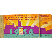 Vintage 1934 Century of Progress International Exposition Chicago Admission Tickets and Booklet