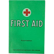 Vintage 1972 Red Cross First Aid Booklet