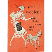 Vintage How to Care For Wool Booklet 1948