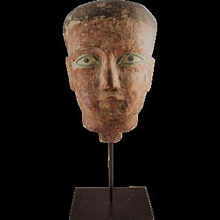 Egyptian Style Wood Head