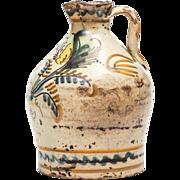 "Spanish Olive Oil Cruet,  Glazed Ceramic design""serie de la pajarita"""