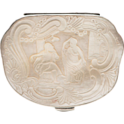 Mother of Pearl and Sterling Silver Snuff Box