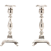 Portuguese Sterling silver candleholders