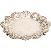 19th Century Portuguese Baroque Sterling Silver Tray