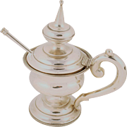 Silver Plated Sugar pot with Spoon