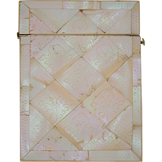 Beautiful Mother of Pearl Card Case