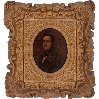 19th Century Neapolitan Oval Painting of a Gentleman