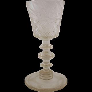 Crystal Goblet Bohemia, 19th Century