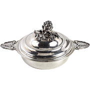 French Sterling Silver Ecuelle Covered Serving Dish by Puiforcat Paris