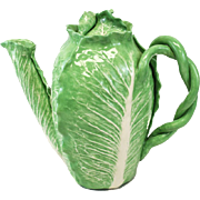 Dodie Thayer Lettuce Leaf Porcelain Coffee Pot, Hand Crafted Earthenware
