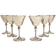 6 Tiffany & Co. Sterling Silver Wine Martini or Cocktail Glasses in Hamilton