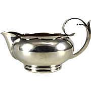 La Paglia for Georg Jensen Sterling Silver Creamer #201 Scalloped detail, circa 1930