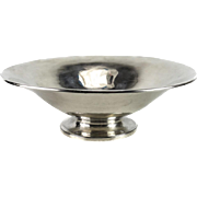 Porter Blanchard Sterling Silver Modernist Footed Centerpiece Bowl, Mid Century