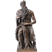 Ron Liod Sauvage (19th/20th C) Bronze Sculpture - Moses after Michaelangelo