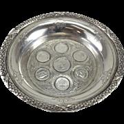 Exceptional Porto Portuguese Coin Silver Champagne Coaster Dish, circa 1910