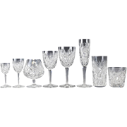 108 Piece Stemware Service for 12 in Florence Pattern by Saint Louis