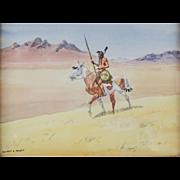 Leonard Reedy (American 1899-1956) Watercolor on Paper, The Cheyenne Warrior