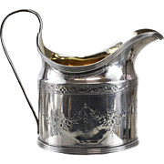 Peter & Ann Bateman George III London Sterling Silver Creamer, 1794