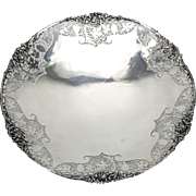 Coopers Brothers & Sons Ltd Sheffield Sterling Silver Pierced Pedestal Dish, 1949