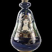 Amphora Turn Teplitz RSTK Lady of The Lake Portrait Vase circa 1900