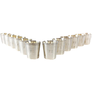 12 JB & SM Knowles Sterling Silver Shot Jigger Cups #G58 by Udall & Ballou, circa 1920