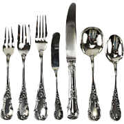 7 Piece Sterling Silver Flatware Service for 12 in Quirinale by Buccellati