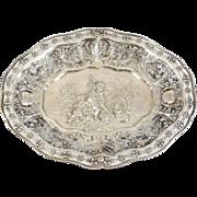 George Roth German Hanau Silver Figural Pierced Footed Presentation Tray, circa 1900