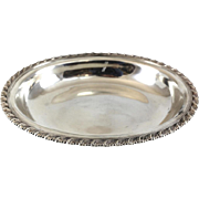 Tiffany & Co. Sterling Silver Gadroon and Leaf Rim Oval Vegetable Bowl, circa 1900