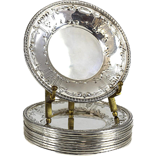 11 International Sterling Co. Sterling Silver Butter Dishes in Marie Antoinette, circa 1940