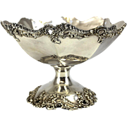 The Baily Banks & Biddle Co Sterling Silver Compote, circa 1900. Foliate Scalloped Rim