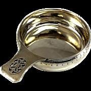Tiffany & Co. Makers Sterling Silver Pierced Handled Porringer #5148,  circa 1930