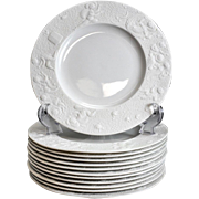 8 Rosenthal Studio Salad Plates in Magic Flute Bisque White by Bjorn Wiinblad