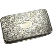 Matthew Linwood George III Birmingham Sterling Silver Gilt Snuff Box,1811