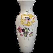 Royal Berlin KPM Large Hand Painted Porcelain Vase, circa 1900. Vibrant Florals