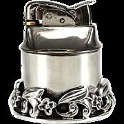 Vintage La Paglia for Georg Jensen Sterling Silver Table Lighter