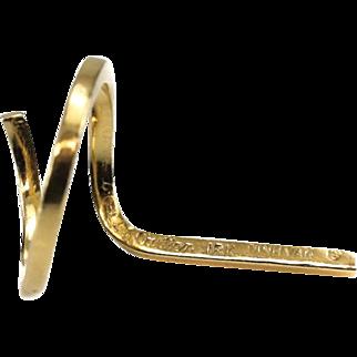 Cartier by Dinh Van 18 Karat Yellow Gold Modernist Ring, circa 1970