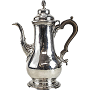 Charles Wright London George III Sterling Silver Coffee Pot, 1769.  Acorn Finial
