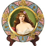 Royal Vienna Style Porcelain Cabinet Plate of a Nude Beauty, circa 1900