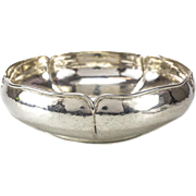 The Kalo Shop Sterling Silver Centerpiece Bowl Hand Wrought #5811, circa 1940
