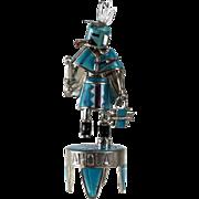 "David Freeland Jr. Sterling Silver Precious Stone Inlay Kachina Doll ""Ahola"""