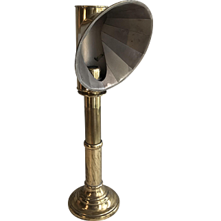 Antique students brass candle lamp