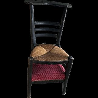 Antique French prayer chair