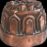 Antique English Victorian copper pudding mould circa 1870