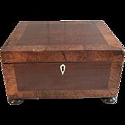 Antique English 19th Century mahogany trinket box
