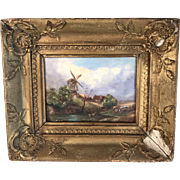 Antique 19th Century Dutch landscape in oil