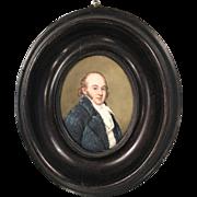 Antique portrait miniature oil painting of HRH The Duke of Kent