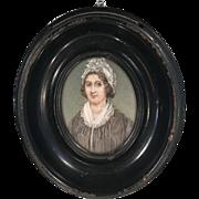 Antique portrait miniature oil painting of HRH Duchess of Kent